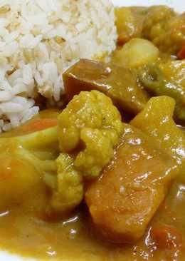南瓜蔬菜咖喱(素食)