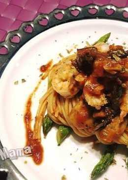 牛肝菌大蝦磨菇意大利麵