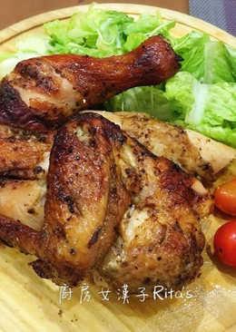 蒜香烤半雞