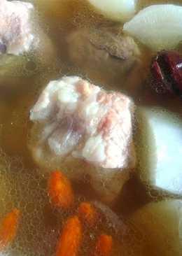(電鍋版)藥膳菜頭排骨湯