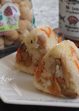 鴻喜菇雞肉飯糰