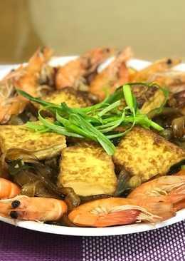 鮮蝦粉絲豆腐煲