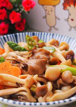 素蠔油炒三菇