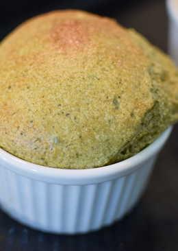 [食譜] 抹茶舒芙蕾Souffle。私家手作--無色素添加!