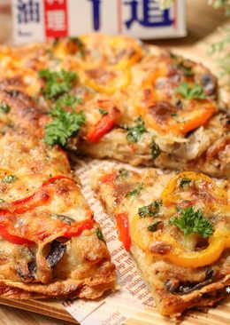 【北海道白醬烤】蛋餅皮做Pizza!白醬鮪魚披薩脆餅