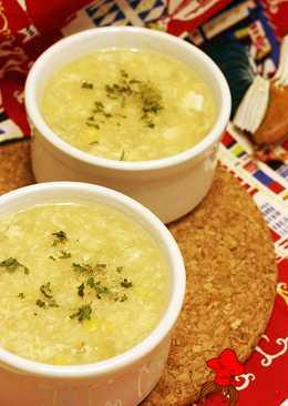 Costco 烤雞運用料理 - 雞蓉玉米濃湯 Chicken corn egg drop soup