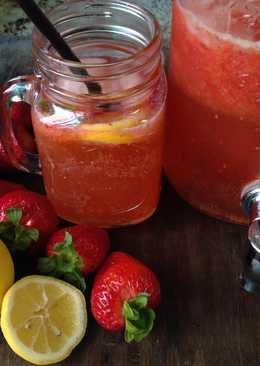 Sparkling Strawberry Lemonade-檸檬草莓蜂蜜氣泡水