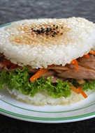 金平牛蒡豬肉.米漢堡