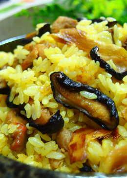 麻油雞彩色越光米薑黃飯