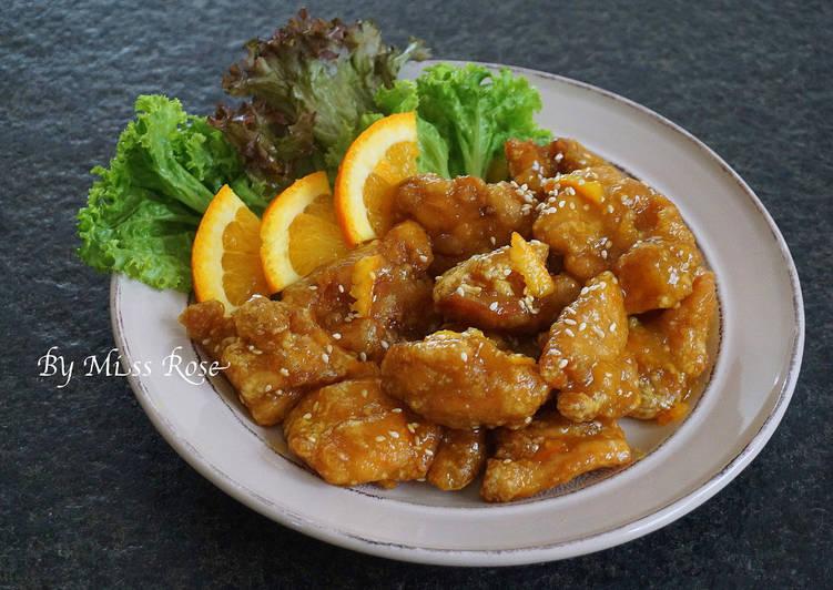 【免油炸】橙汁雞塊