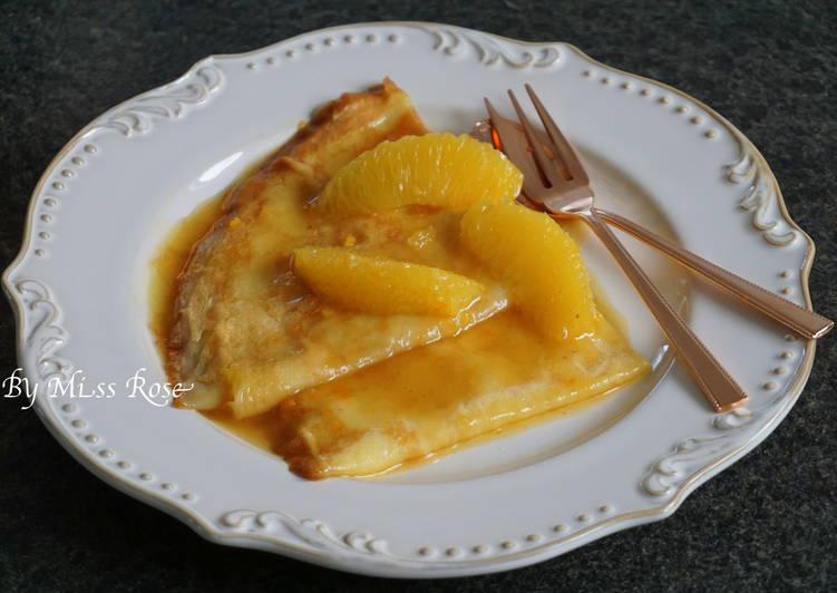 柳橙法式可麗餅