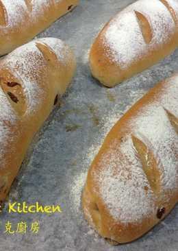 葡萄乾優格麵包 (4個)~附『實作影片』~