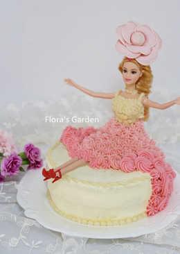 [母親節蛋糕]用平底鍋做芭比娃娃蛋糕