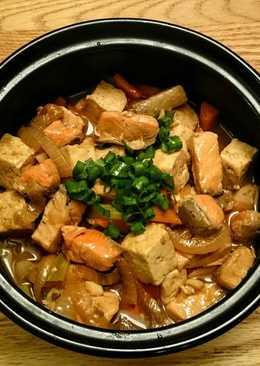 鮭魚豆腐煲