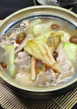 曇花滑菇肉片湯
