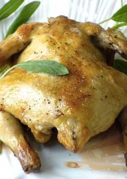 影音示範教學 超簡單 鯷魚蒜香烤春雞 快速年菜