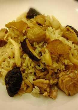 麻油雙菇雞燉飯(電子鍋)