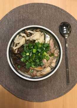 感冒退散的菇菇蔥雞湯飯