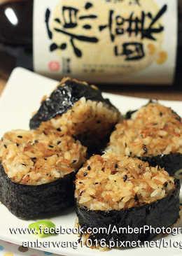 【源釀醬油】吻仔魚烤飯糰