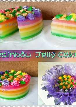 彩虹燕菜蛋糕