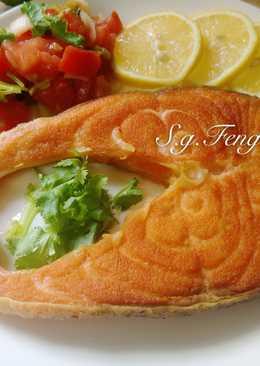 奶油鮭魚佐莎莎醬