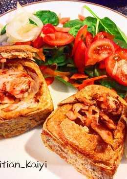 煙三文魚漢堡包厚多士 Smoke salmon burger french toast