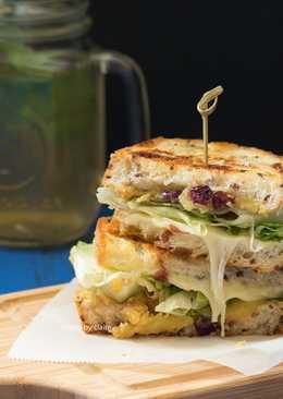 偽星巴克輕食-地瓜堅果三明治