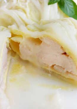 白菜起司雞肉捲♥