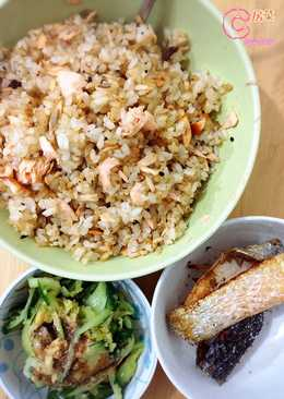 一人餐 - 黑松露三文魚炒飯