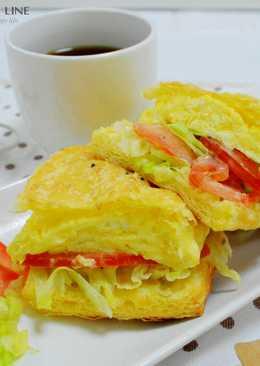 【樂客來】早午餐之~歐姆蛋燒餅