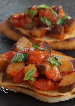 茄子蕃茄.義式烤麵包片