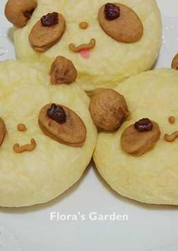 平底鍋做✿貓熊麵包
