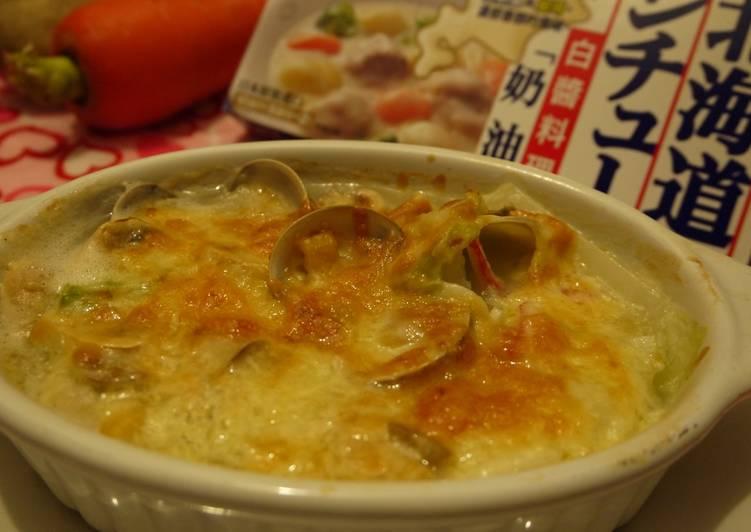 【北海道白醬烤】奶油玉米蛤蜊蘑菇烤白菜