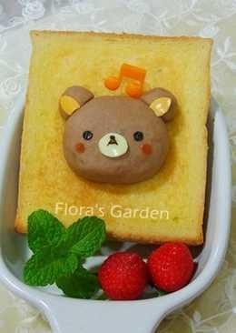 快樂兒童節早餐~懶懶熊吐司