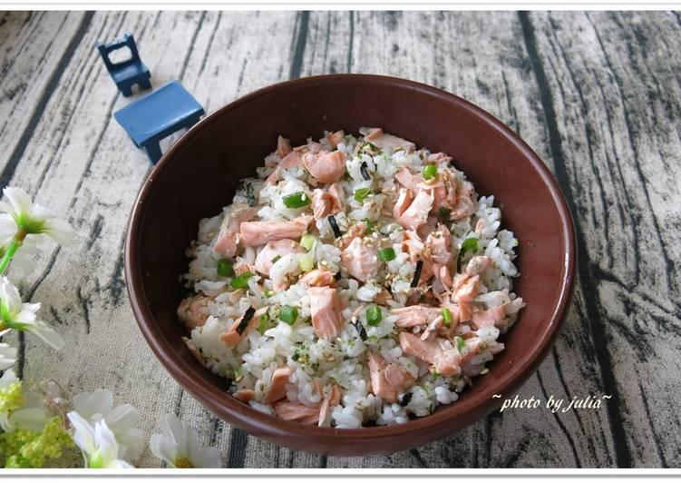[香鬆鮭魚蓋飯] 既美味又營養