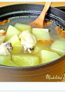蒜香青木瓜雞湯