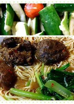 懶人之 滷牛腱/紅燒牛肉麵/涼拌小黃瓜