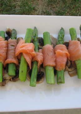 烟魚蘆筍卷