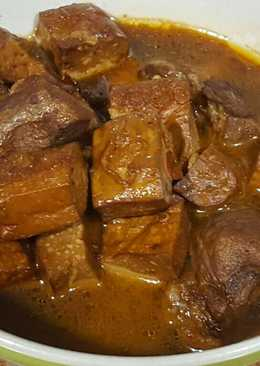 茄汁紅燒肉加滷豆干