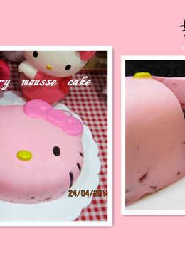 Hello Kitty 草莓慕丝巧克力蛋糕