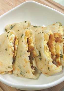 塔香qq蛋餅皮(麵糊式 可素食)