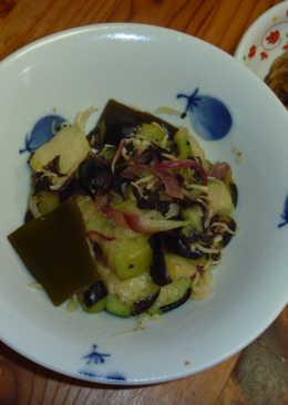 日式涼拌茄子茗荷