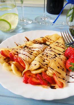 草莓香蕉法式可麗餅