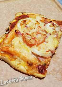 《親子料理》海陸薄批 Pizza