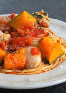 茄汁南瓜雞肉義大利麵