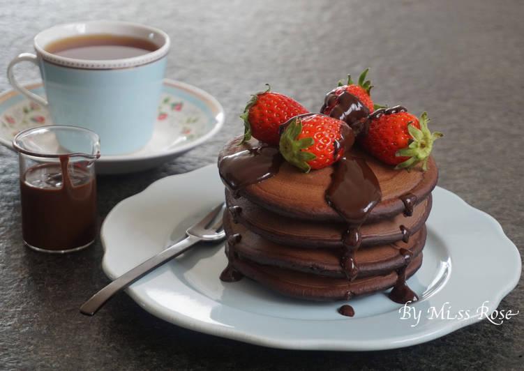 草莓巧克力鬆餅