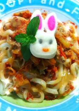 ♡宛の清涼一夏 ♥ 料理 ✿ 韓式泡菜涮豬肉烏龍涼麵