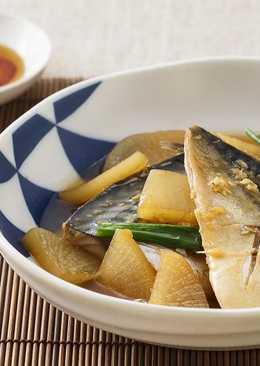 蘿蔔鯖魚煮