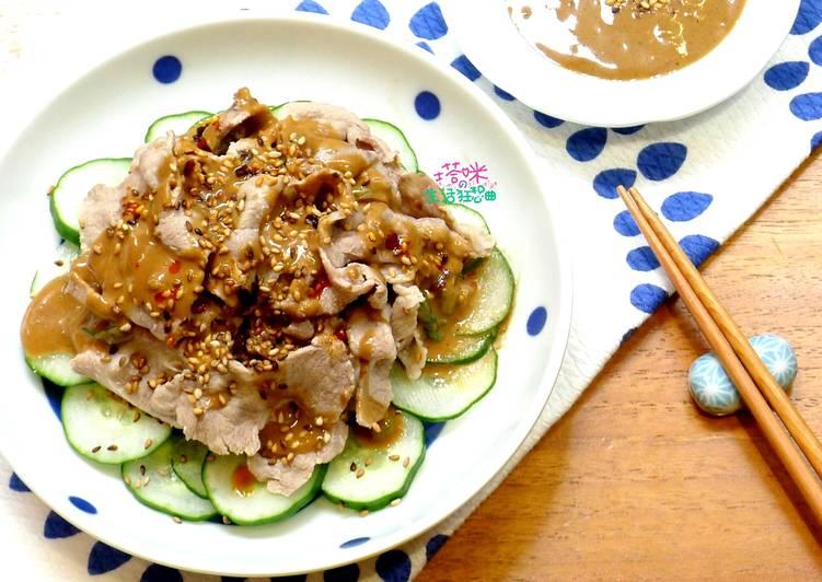 芝麻醬拌小黃瓜肉片