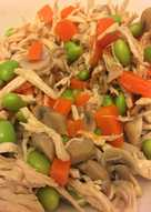 低卡彩色涼拌雞絲 Shredded Chicken and Vegetables with Sesame Oil & Black Vinegar